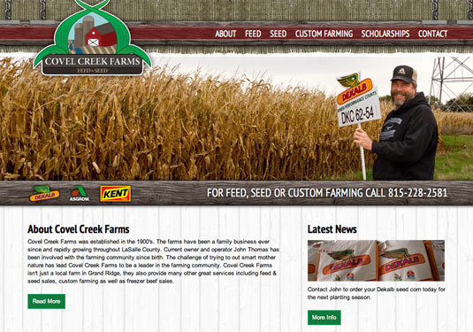 Covel Creek Farms Website designed by Neselo LLC