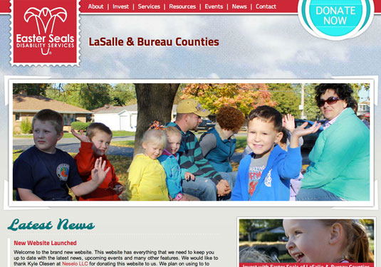 Easter Seals LaSalle and Bureau Counties designed by Neselo LLC